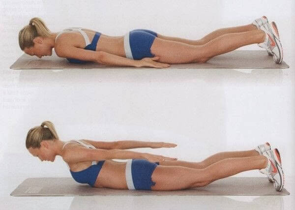 Упражнения от лишнего веса в области спины